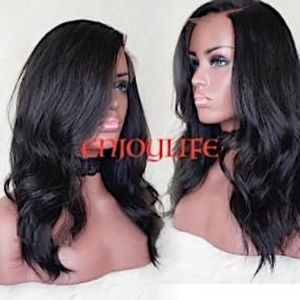 100%human hair body wave lace front wig